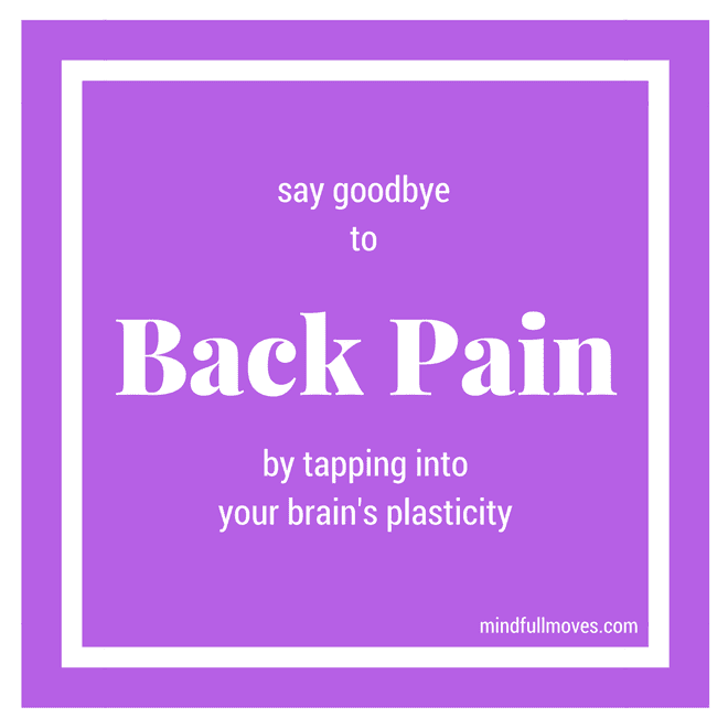end back pain with brain plasticity and anat baniel method